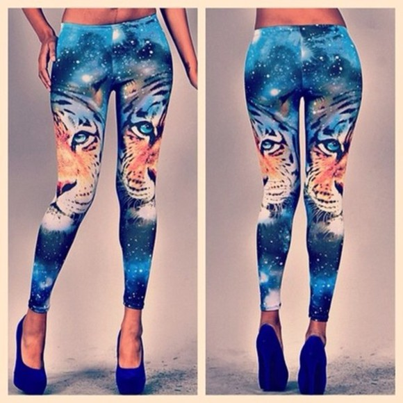 galaxy pants leggings tiger