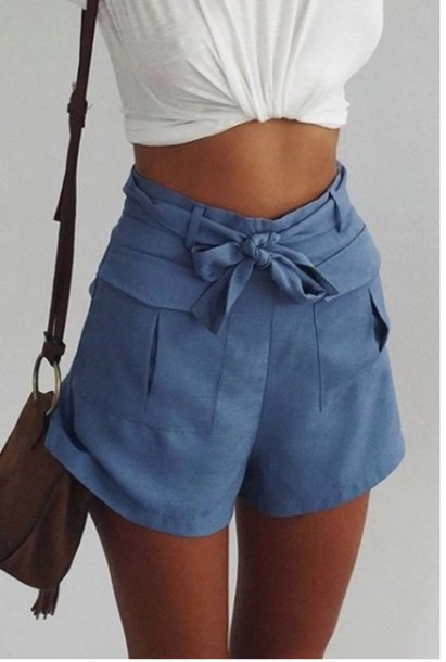 shorts blue girly girl girly wishlist