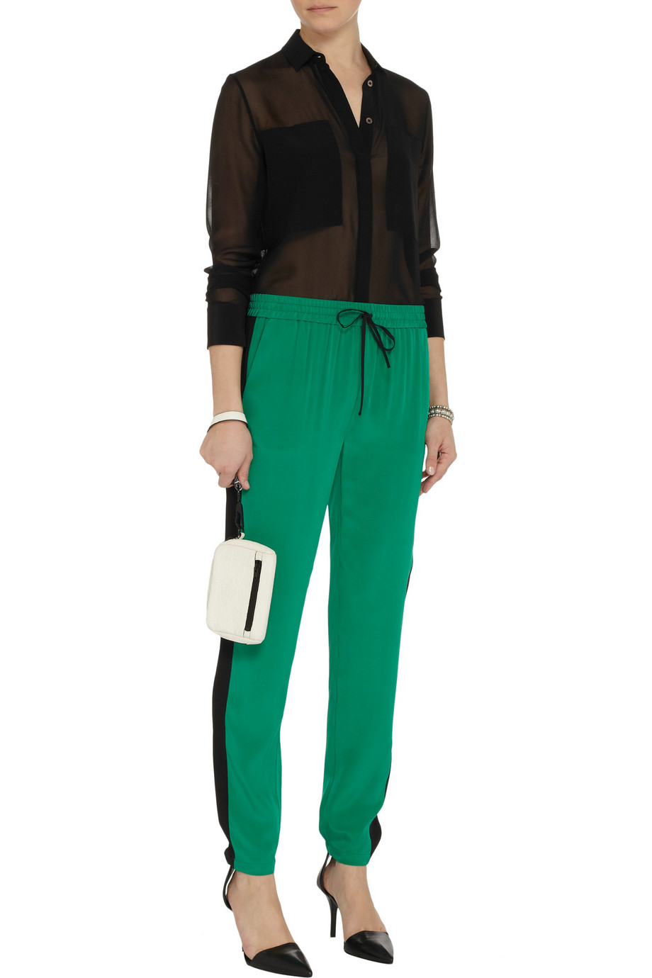 T by Alexander Wang Silk-chiffon shirt – 55% at THE OUTNET.COM
