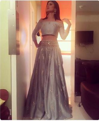 dress indian dress silver
