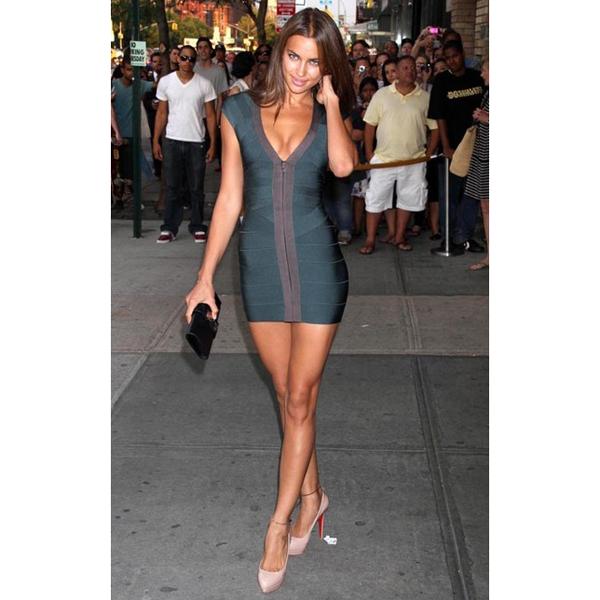 Green Sexy Dress - Bqueen Dress Dark Green Bandage | UsTrendy