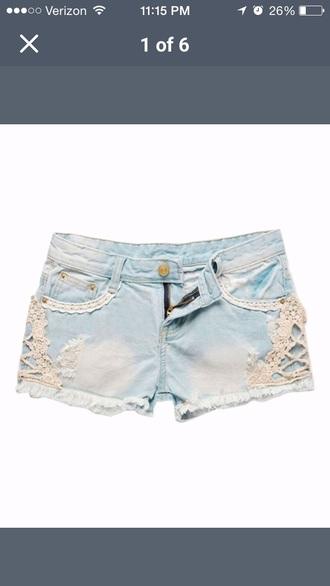 shorts jeans crochet shorts