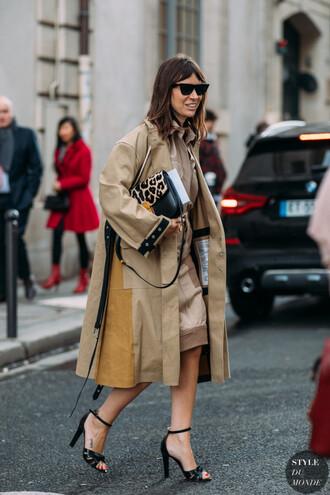 shoes coat trench coat dress bag sandals black sandals heels high heel sandals sunglasses