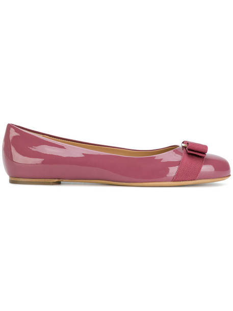 Salvatore Ferragamo women shoes leather purple pink