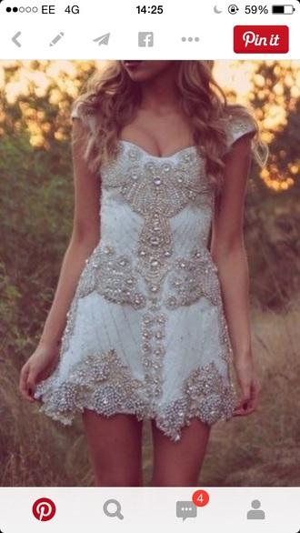dress embellished sequined short prom