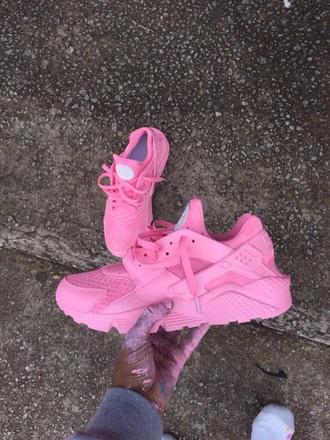 shoes pink custom shoe nike huarache