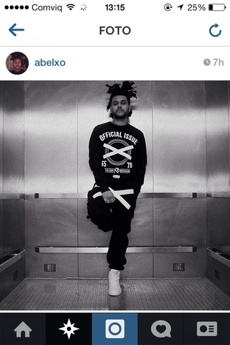 sweater the weeknd xo sweatpants joggers official issue