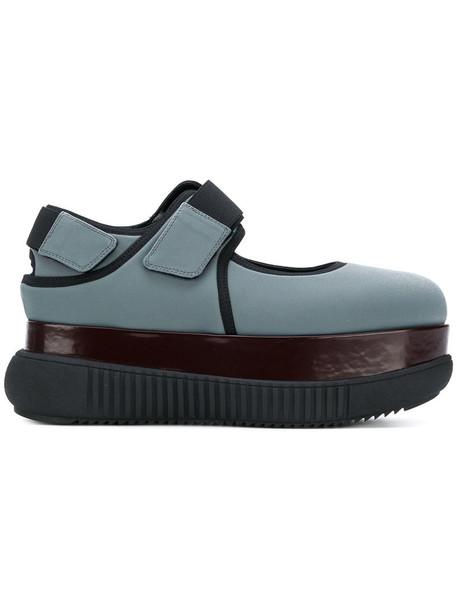 MARNI women pumps leather blue shoes