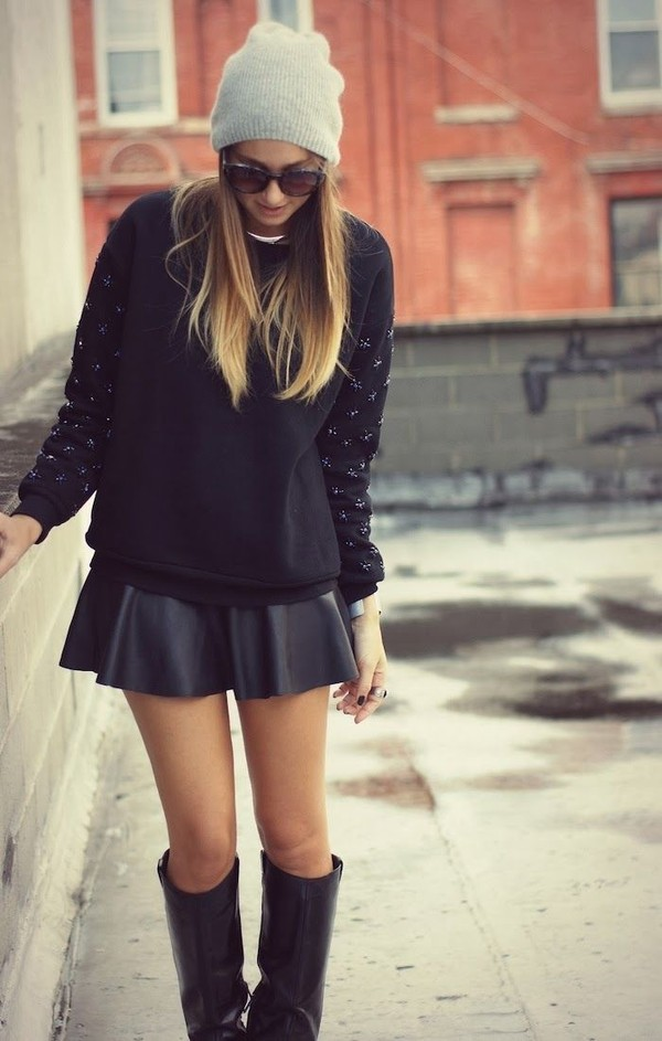 skirt black jumper