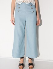 pants,flare,blue,blue pants,sailor pants,nautical,nautical pants,korean style,daily look,daily find,ootd,korean fashion,korean trends,pixie market,pixie market girl,pixie girl,summer pants,summer,cute,trendy,culottes,wide-leg pants
