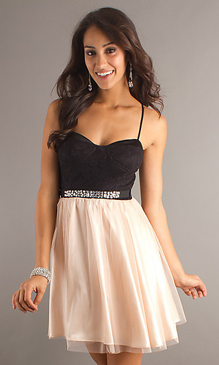 Dress, short spaghetti strap dress