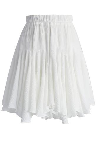 skirt chicwish frilling skater skirt in white skater skirt white skirt frilling skater skirt retro skirt summer skirt spring skirt chicwish.com