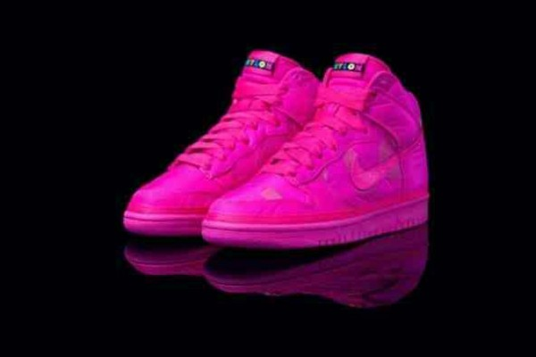 Shoes: Nike Hot Pink Nylon High Tops, Nike Nylon Hot Pink