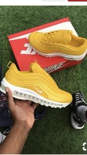 shoes,yellow air max 97
