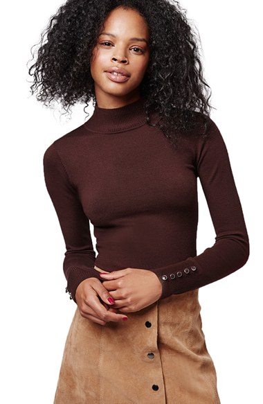 4598cab750c Topshop Funnel Neck Long Sleeve Top | Nordstrom
