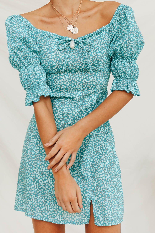 What She Means Mini Dress // Aqua