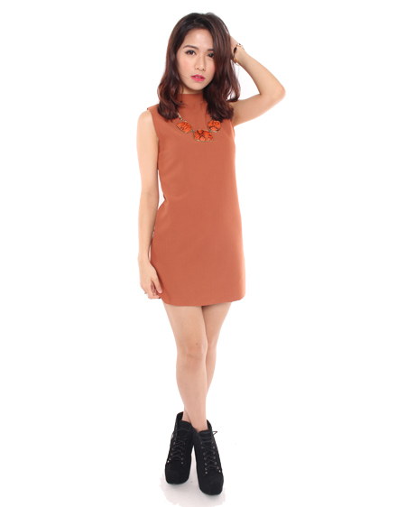 Devon dress in brown, radpopsicles