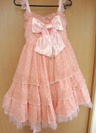pajamas japanese fashion harajuku kawaii polka dots pink dress dress