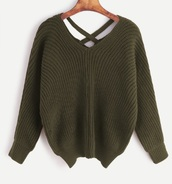 sweater,knitwear,knitted sweater,knit,fall sweater,fall colors,olive green