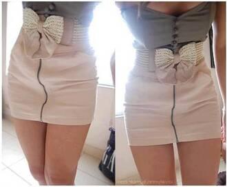 dress grey button top cream skirt zip