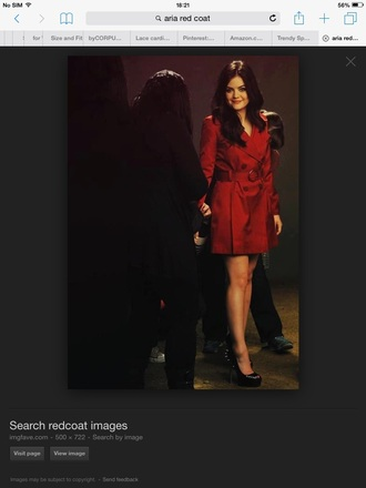 coat aria montgomery pretty little liars red coat