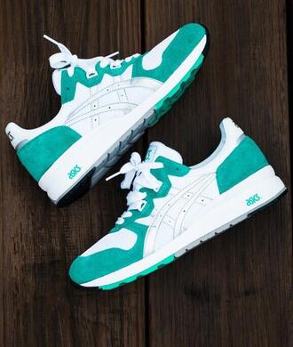 shoes asics 36 white green
