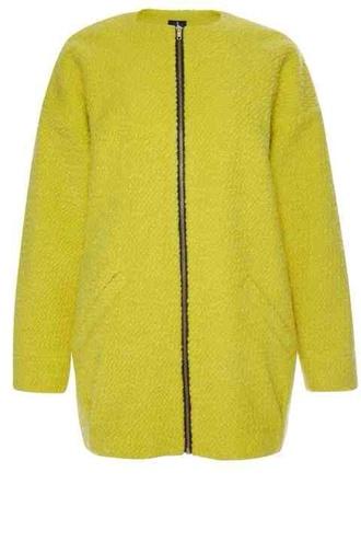 coat zipper jacket zip long sleeves lime lime green duster duster coat yellow green