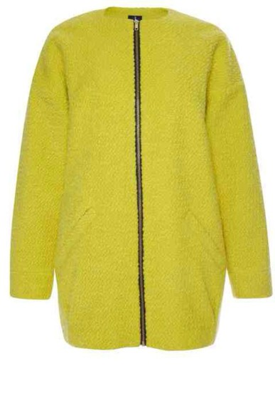 zip jacket long sleeves zipper lime lime green coat duster duster coat yellow green