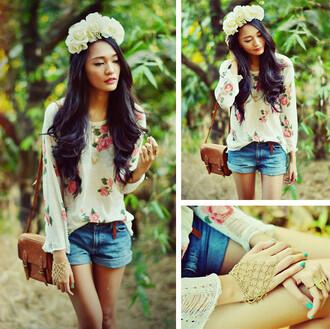 sweater floral romwe romwe jumper