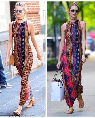 dress tribal print dress behati prinsloo