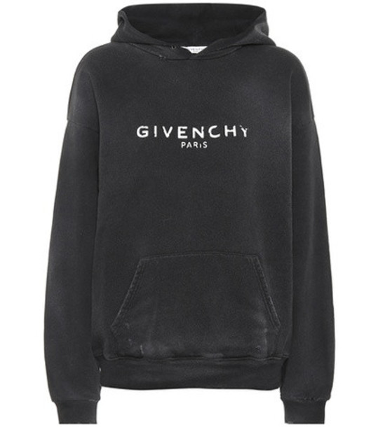 hoodie cotton black sweater