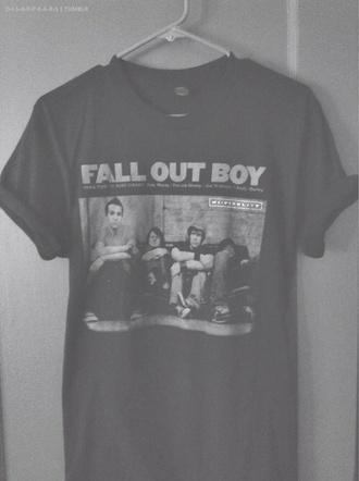 shirt fall out boy band t-shirt t-shirt patrick stump pete wentz panic! at the disco my chemical romance band