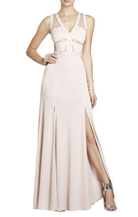 Cristy Sleeveless Lace-Insert Gown | BCBG