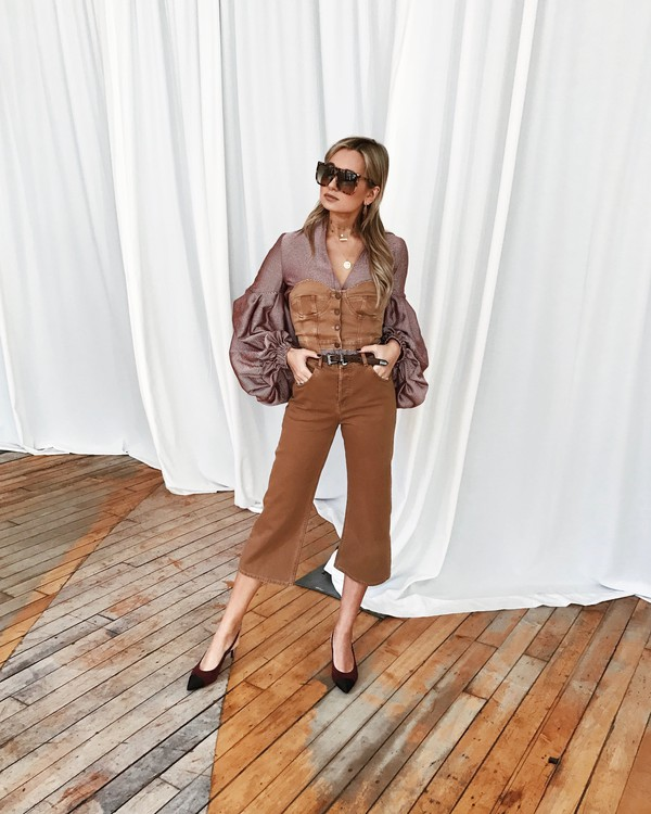 we wore what blogger pants blouse shoes cropped pants