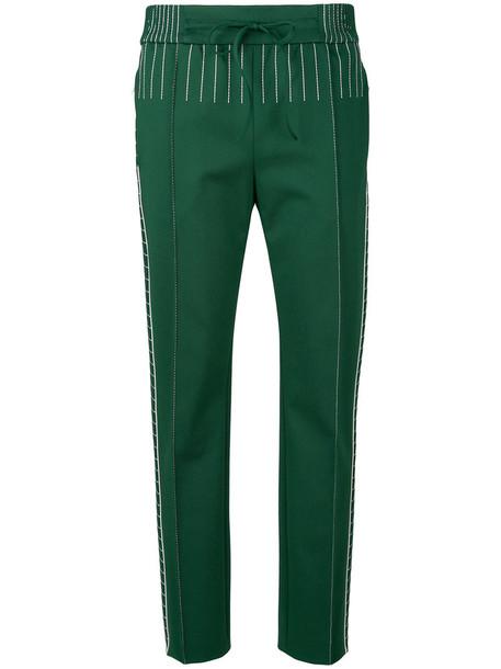 Valentino women spandex green pants