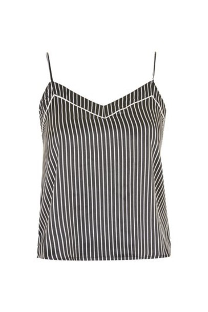 Topshop top satin monochrome