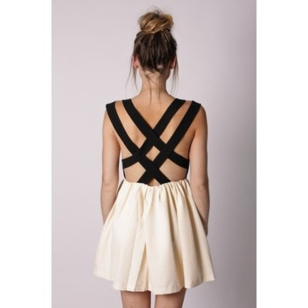 dress lace dress beige dress backless