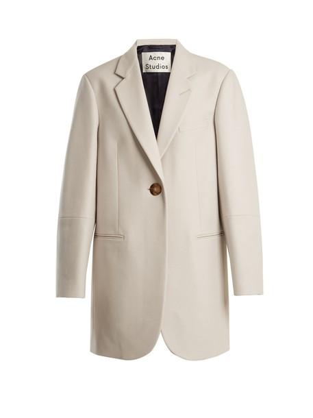 Acne Studios coat flannel coat wool flannel