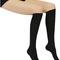 Black knee high socks long nylon opaque grey elastic | ebay