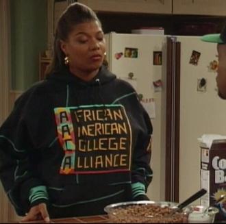 sweater hoodie sweatshirt queen latifah 90s style african american college