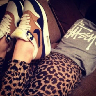 shoes nice air max leopard print outfit style hot wear nice shoes hot shoes leggings red lime sunday