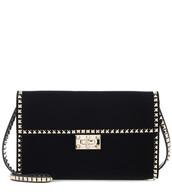 clutch,velvet,black,bag