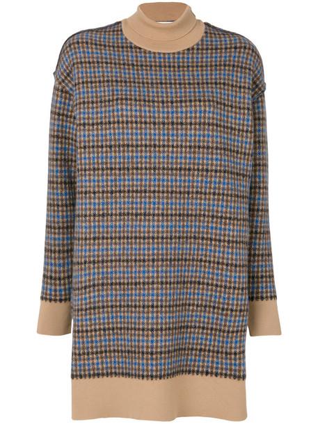 Stella McCartney dress women midi nude wool