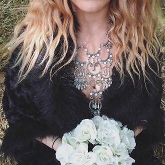 jewels cherry diva boho boho chic bohemian bohemian jewelry jewelry boho jewelry gypsy jewelry gypsy jewels gypsy gypset silver necklace statement necklace necklace long necklace