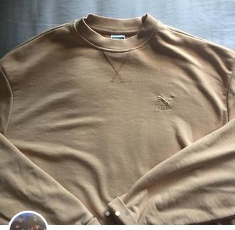 sweater nude puma sweatshirt