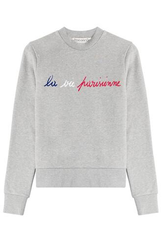 sweatshirt cotton grey sweater