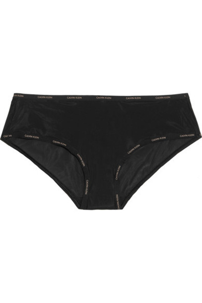 Calvin Klein Underwear - Sheer Marquisette Stretch-mesh Briefs - Black