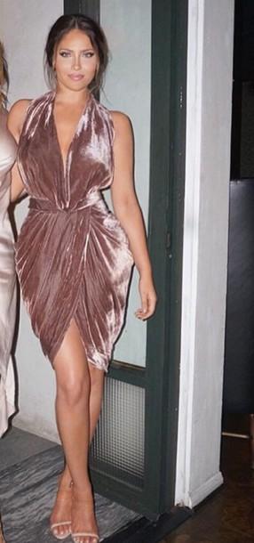 dress velvet dress pink dress