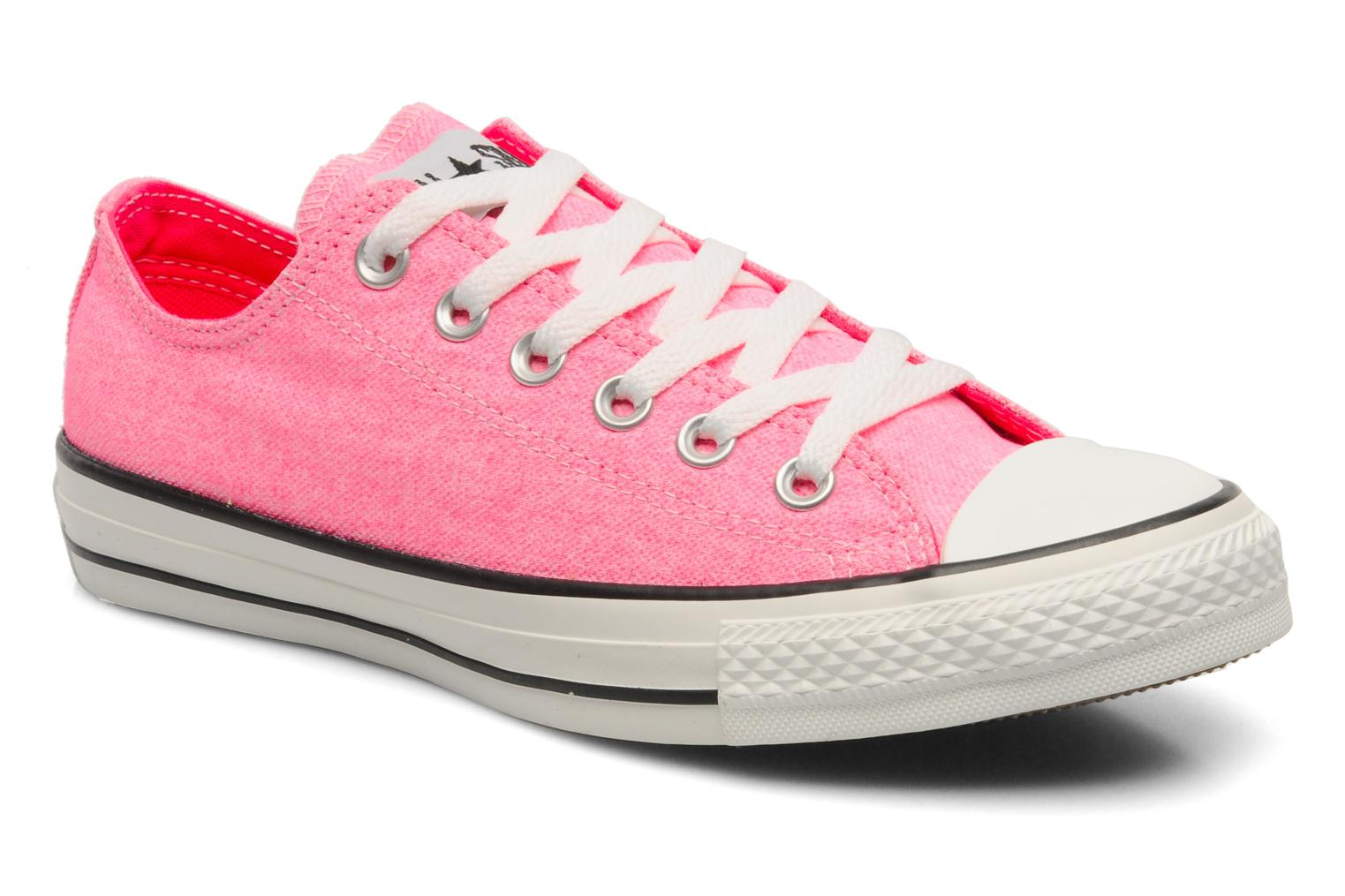 chuck taylor all star washed neon ox w converse rosa. Black Bedroom Furniture Sets. Home Design Ideas