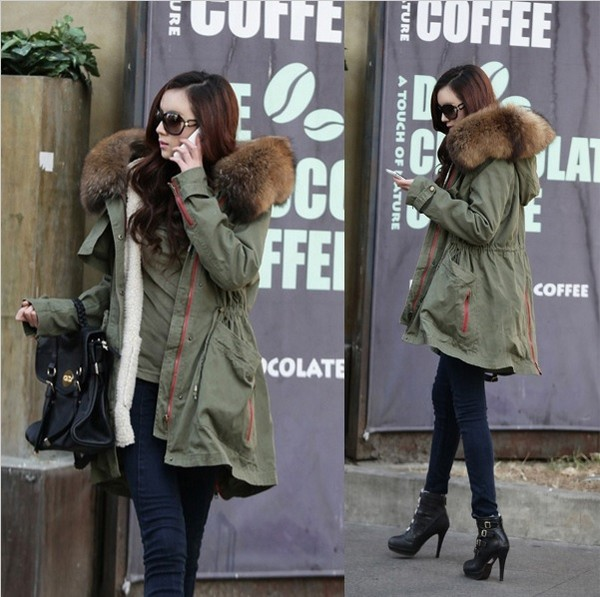 jacket raccon parka green outdoor clothes fashion blogger aliexpress fur shoes